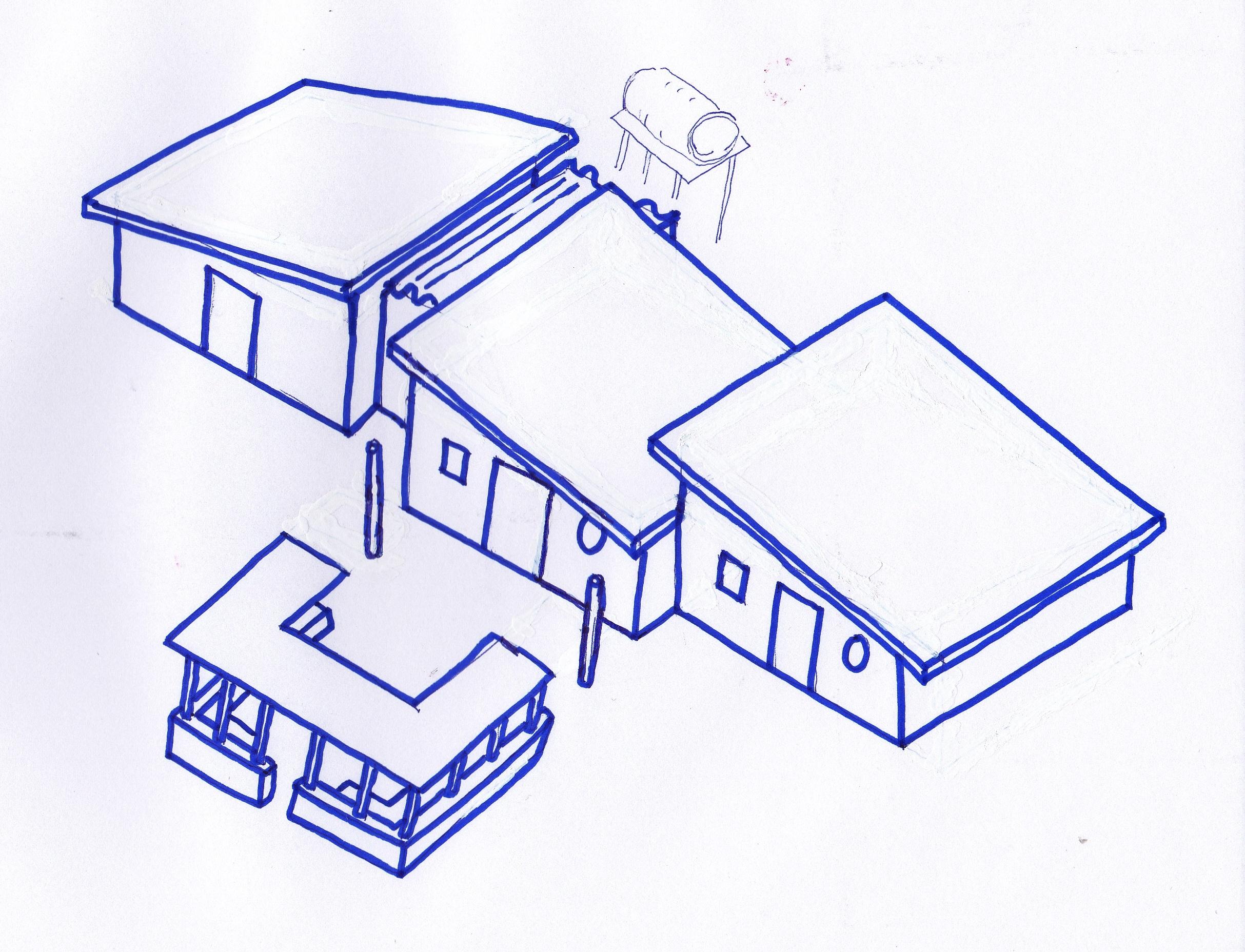 11 - Casa 'Ubuntu', 2005 - Tipologia Occidentale (con tetti inclinati per le piogge)
