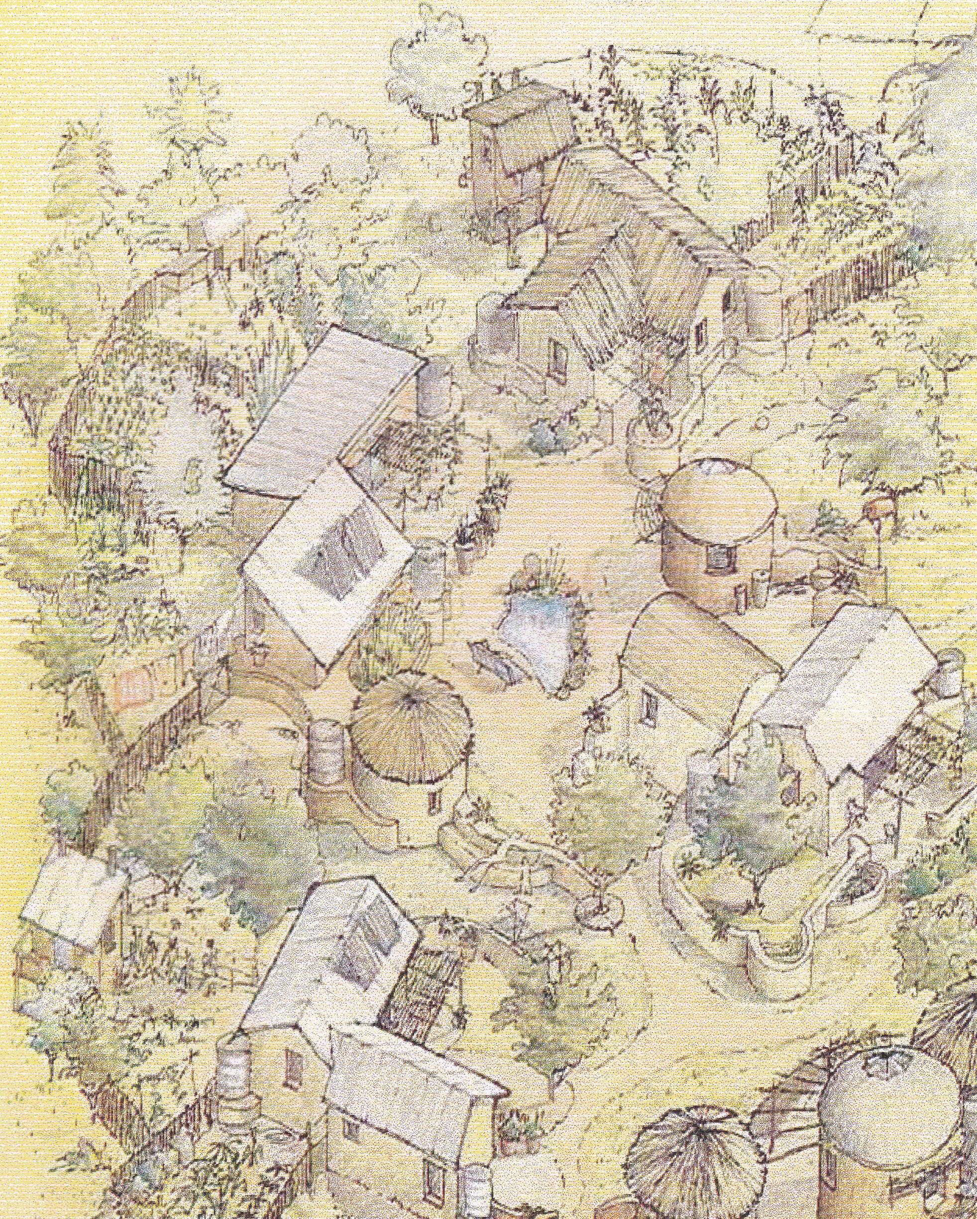 4 - Thlolego - Illustrazione del Villaggio esistente nel 2004